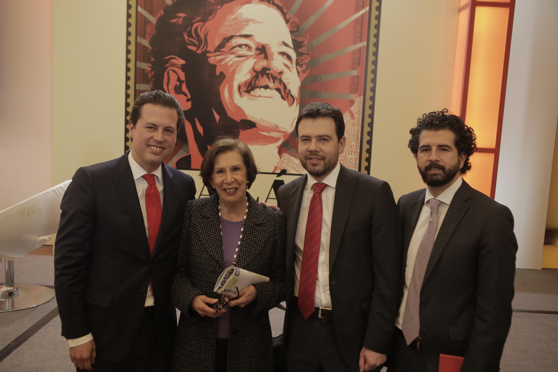 Juan Manuel Galán, Gloria Pachón de Galán , Carlos Fernando Galán y Claudio Galán