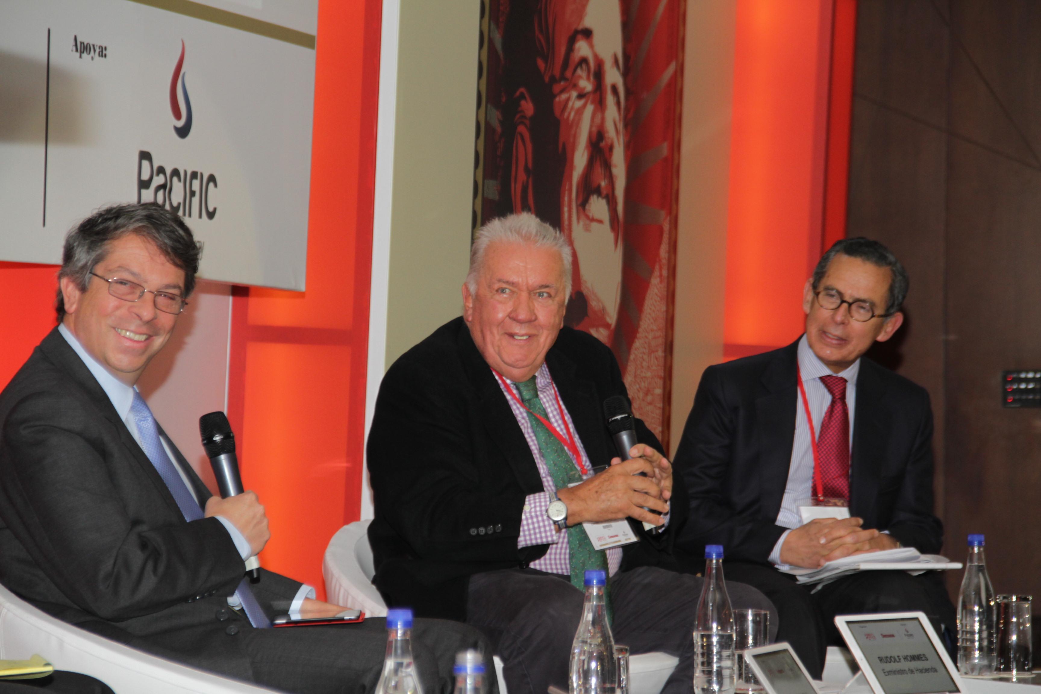 Rodrigo Pardo, Rudolf Hommes y Carlos Caballero