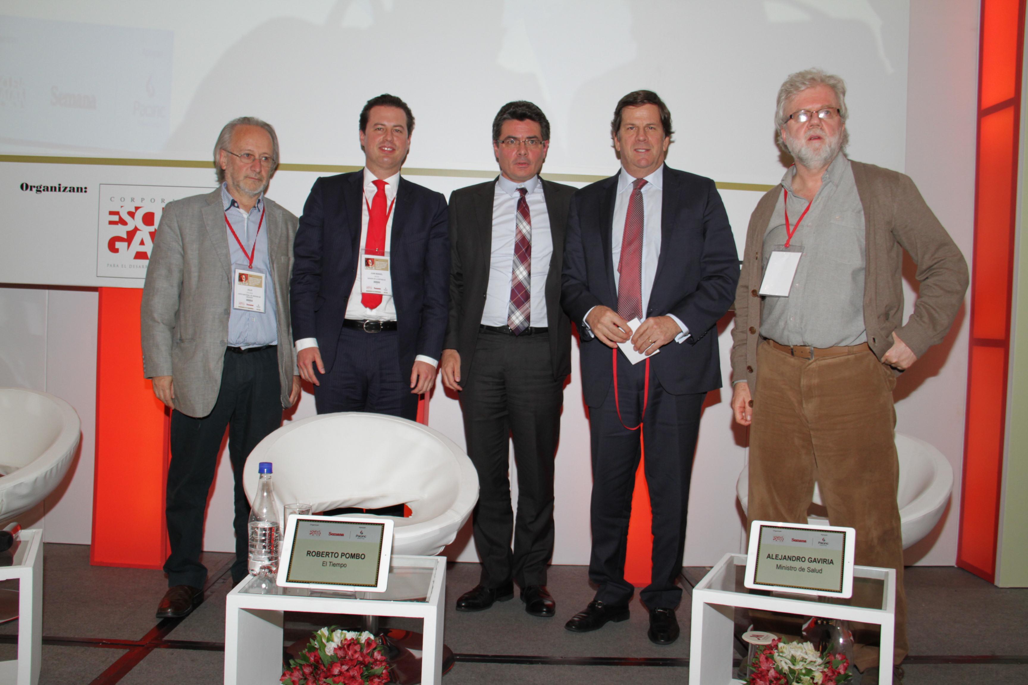 Julio Calzada, Juan Manuel Galán, Alejandro Gaviria, Roberto Pombo  y Rodrigo Uprimny