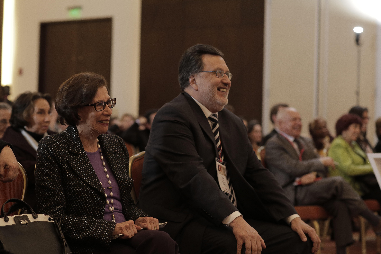 Gloria Pachón de Galán y Cesar Pardo