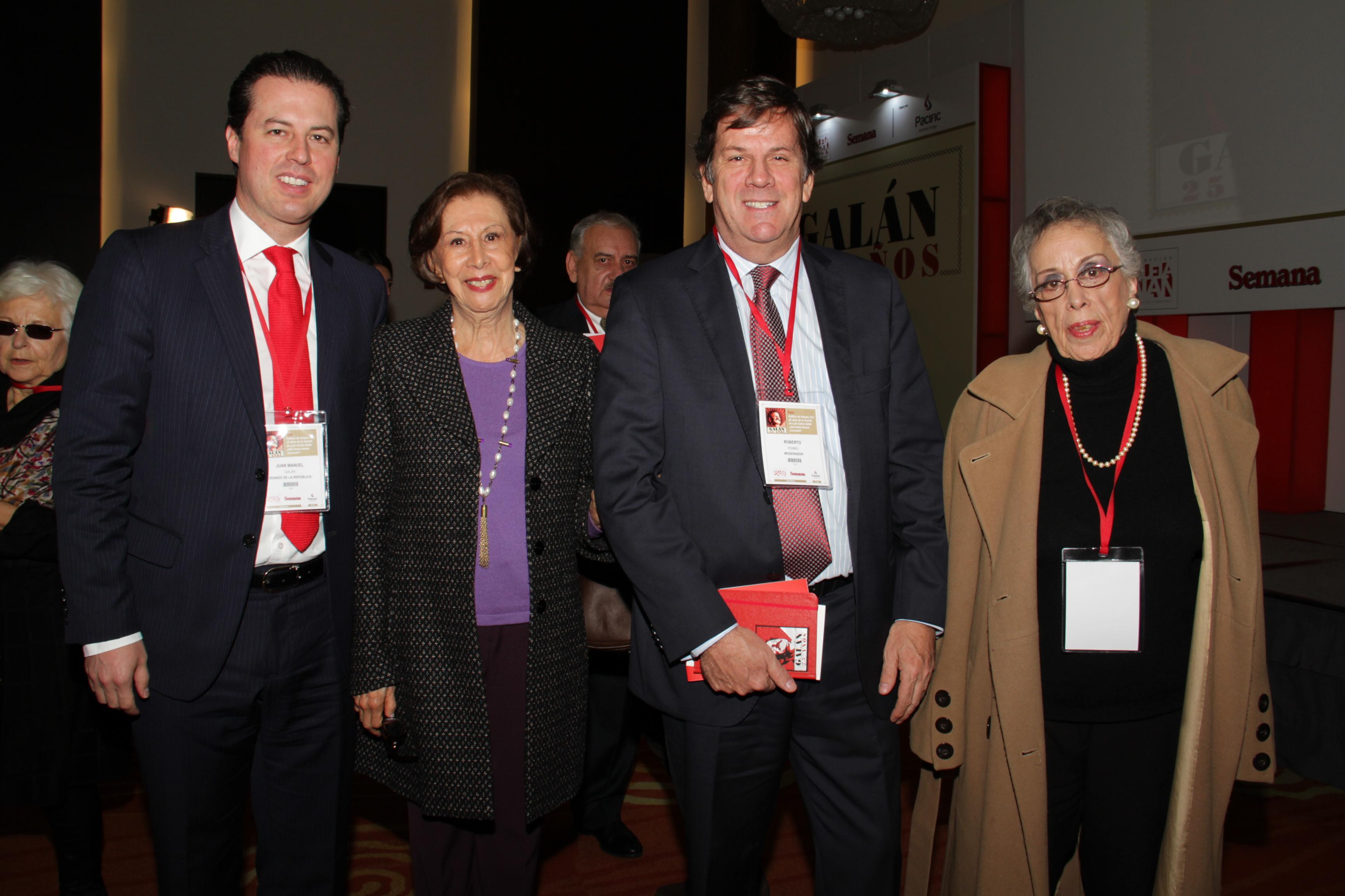 Juan Manuel Galán, Gloria Pachón de Galán, Roberto Pombo y Maria del Rosario Ortiz Santos