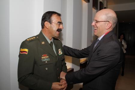 General Rodolfo Palomino  y Alejandro Santos
