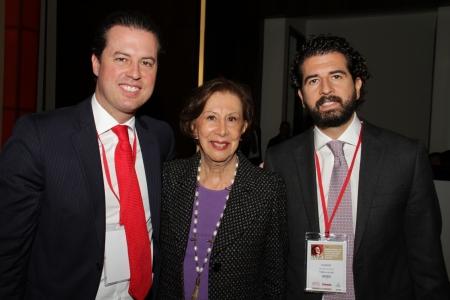 Juan Manuel Galán, Gloria Pachón de Galán y Claudio Galán