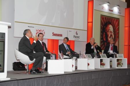 Óscar Naranjo, Juan Mario Laserna, Rodrigo Pardo, Rudolf Hommes y Carlos Caballero.
