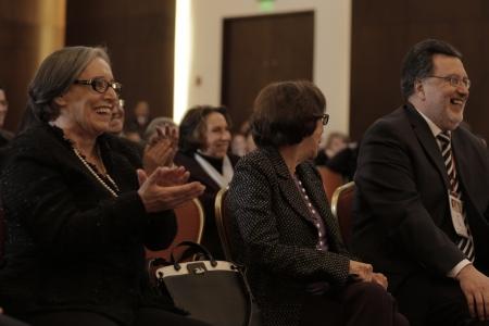 Maruja Pachón, Gloria Pachón de Galán y Cesar Pardo.