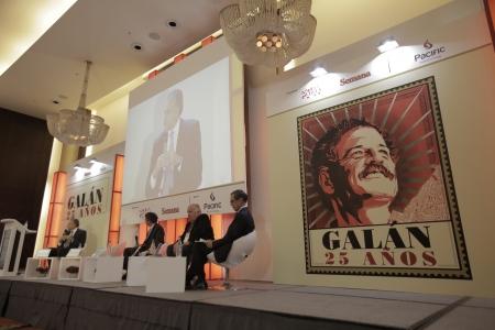 Óscar Naranjo, Rodrigo Pardo, Rudolf Hommes y  Carlos Caballero