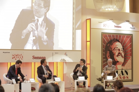 Juan Manuel Galán, Roberto Pombo, Alejandro Gaviria y Rodrigo Uprimny