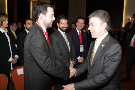 Carlos Fernando Galán y  Juan Manuel Santos Calderón, Presidente de la República de Colombia
