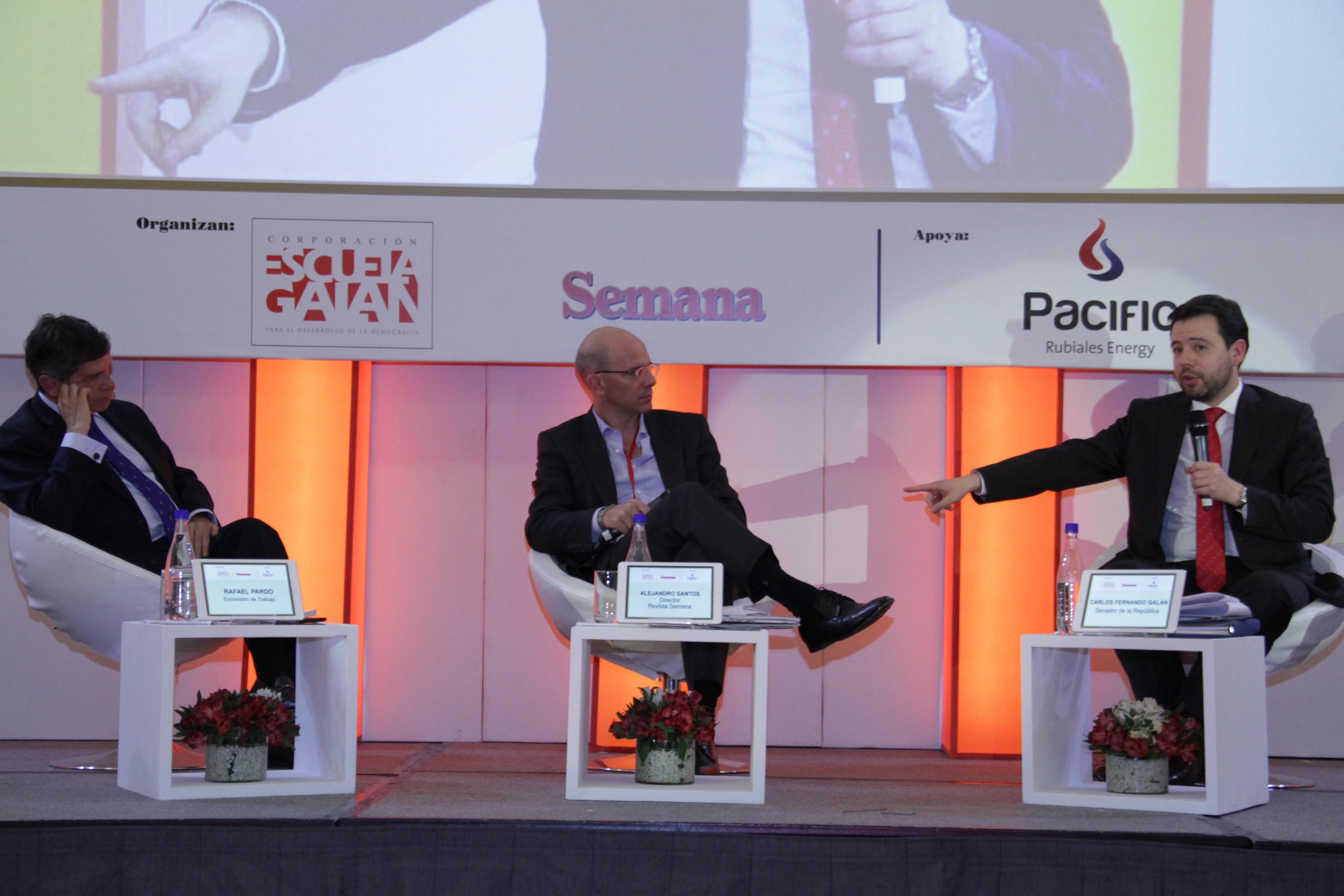 Rafael Pardo, Alejandro Santos y Carlos Fernando Galán