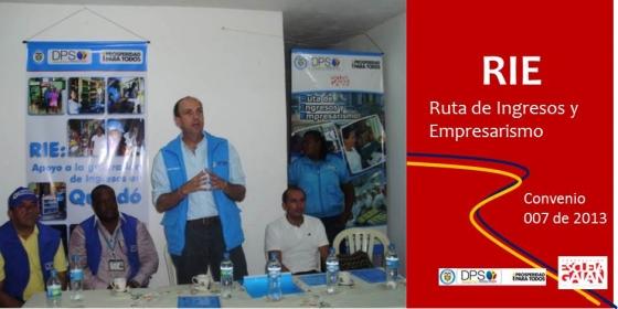 El Director Del DPS hizo entrega de activos a participantes de RIE en el municipio de Quibdó
