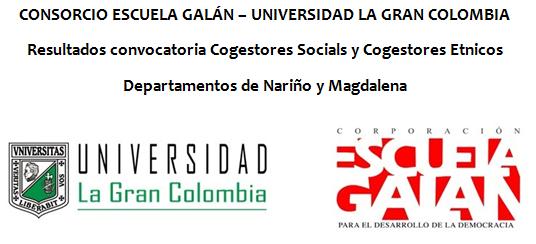 Resultado Convocatoria Cogestores Sociales y Cogestores Étnicos en Magdalena y Nariño